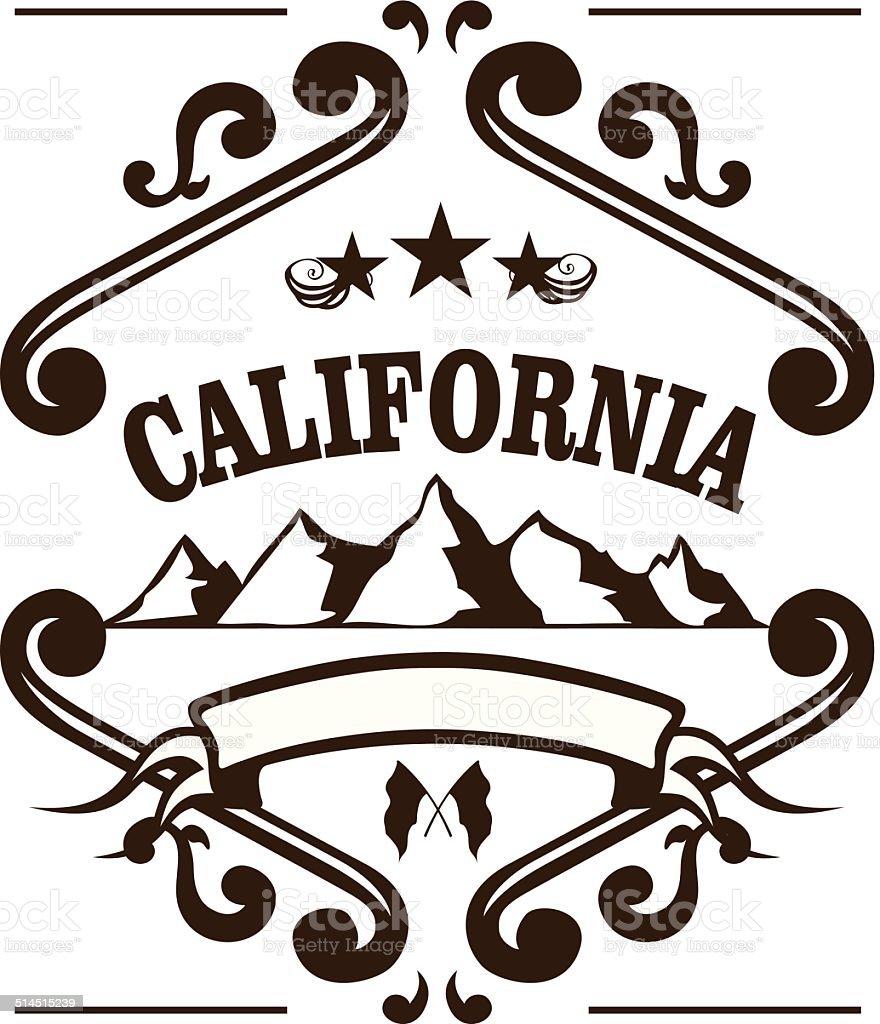 california mountains vector art illustration