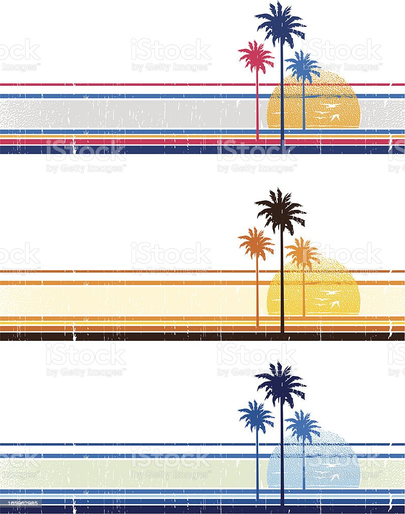 california palms trees vector art illustration