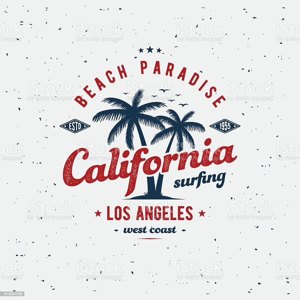 California print gray vector art illustration