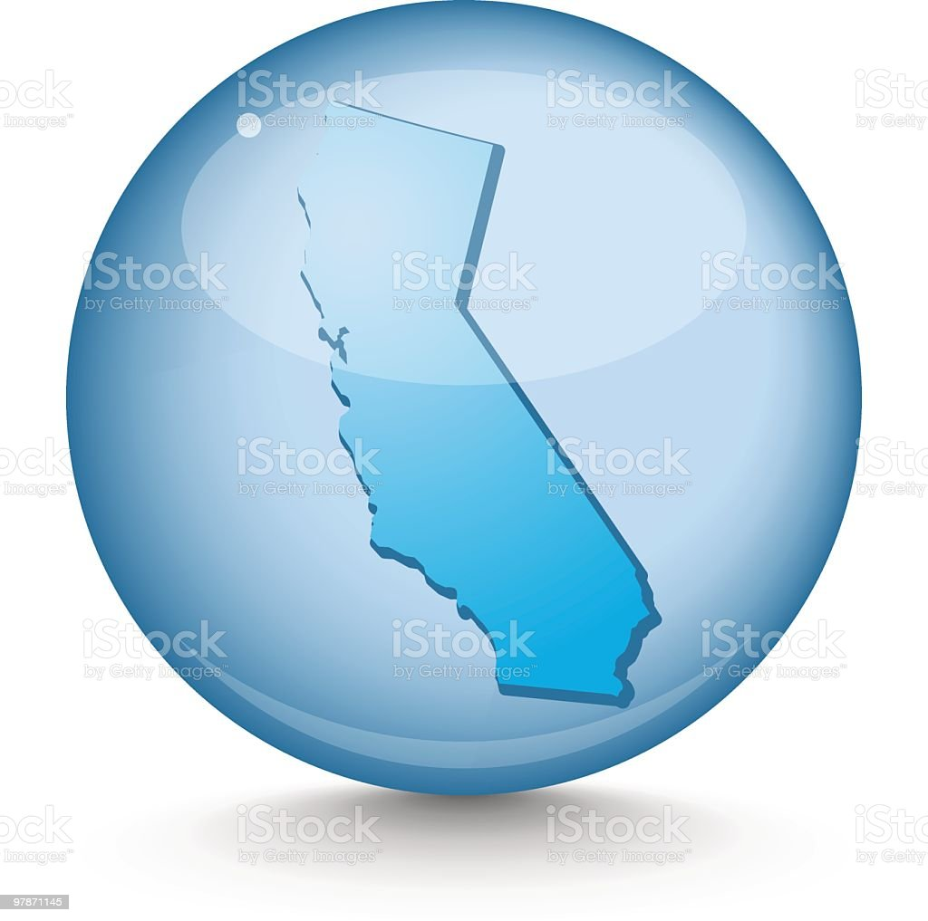 California - Sphere State Series royalty-free stock vector art