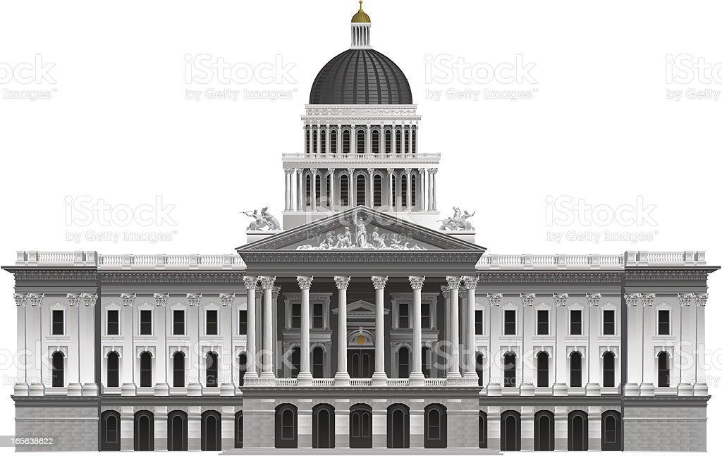 California State Capitol vector art illustration