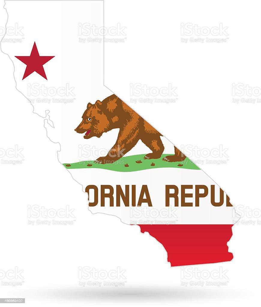 California State Flag vector art illustration