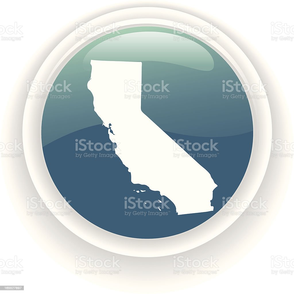 california state icon royalty-free stock vector art
