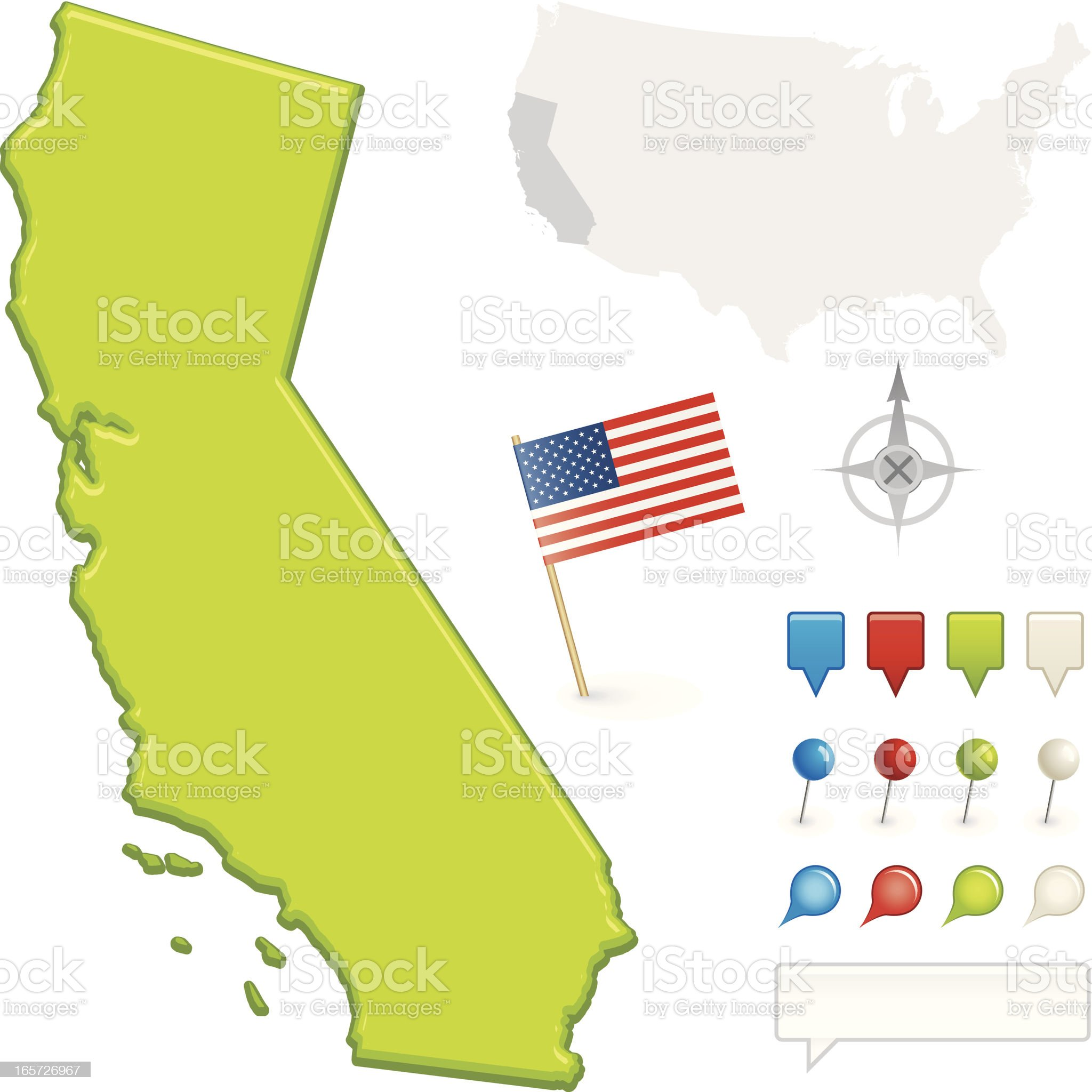 California State Map royalty-free stock vector art