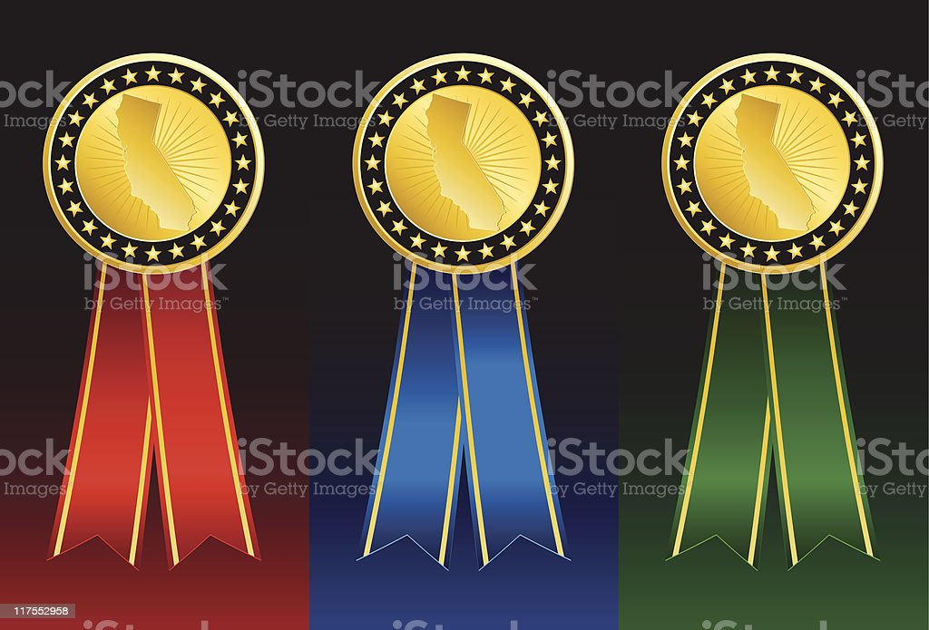 California State Medals royalty-free stock vector art