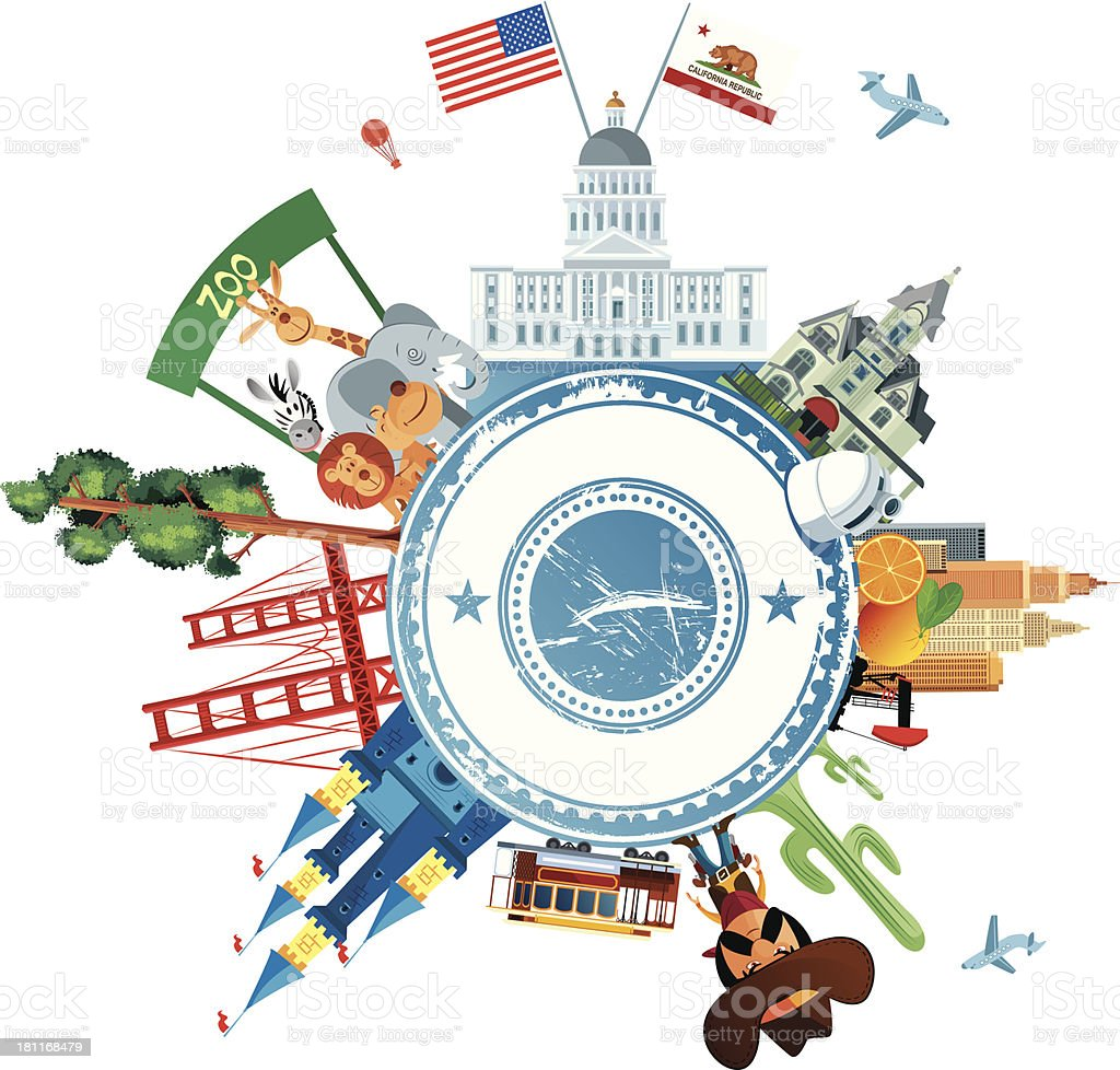 California Travel royalty-free stock vector art