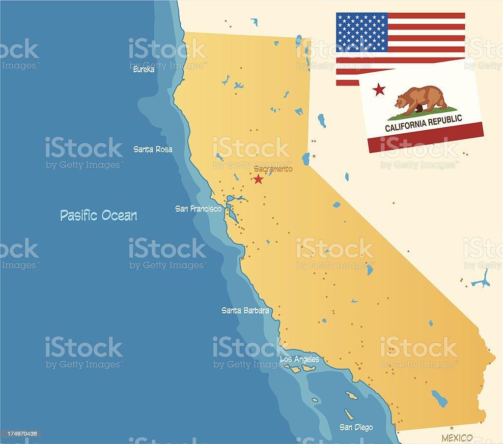 California royalty-free stock vector art