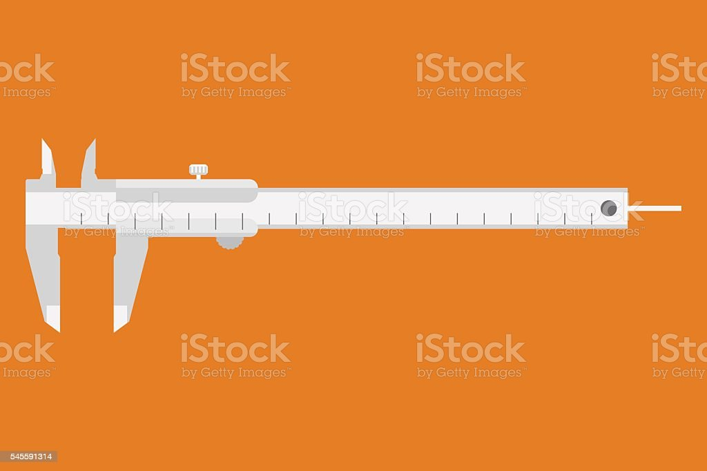 Caliper icon. Measuring instrument vector art illustration