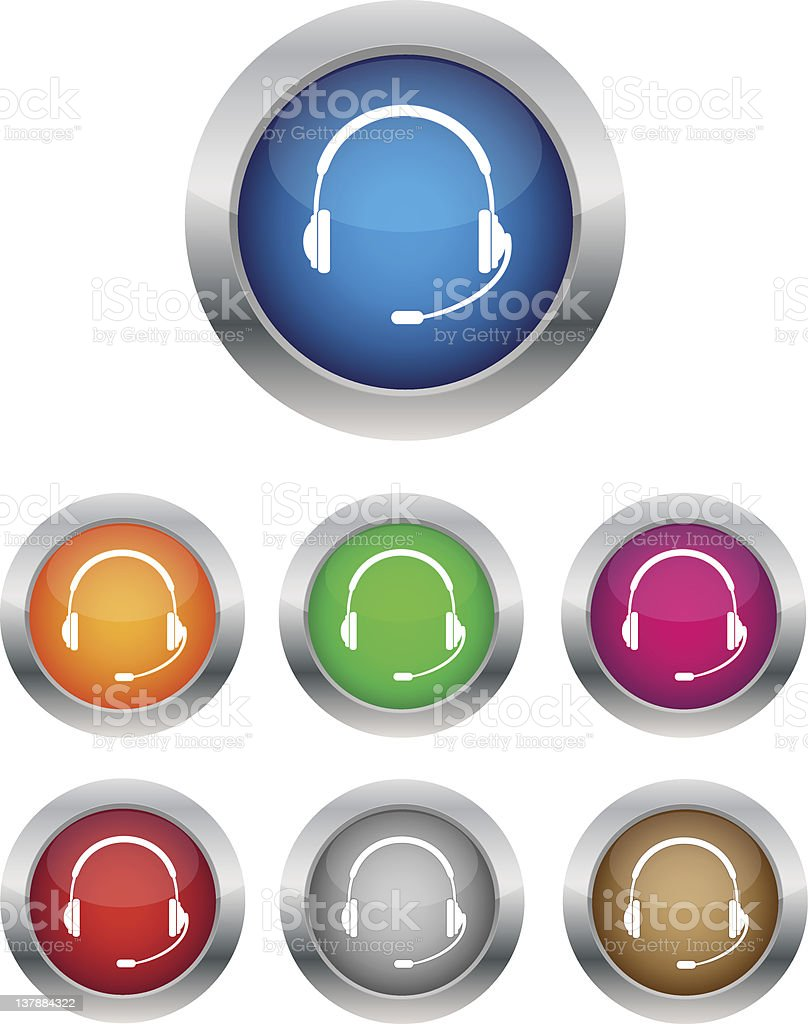Call center buttons royalty-free stock vector art