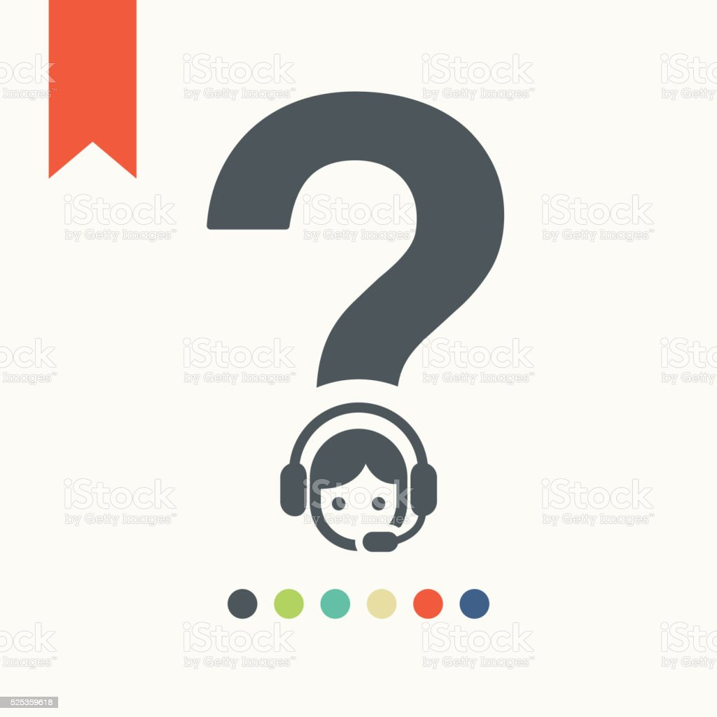 call center operator icon vector art illustration
