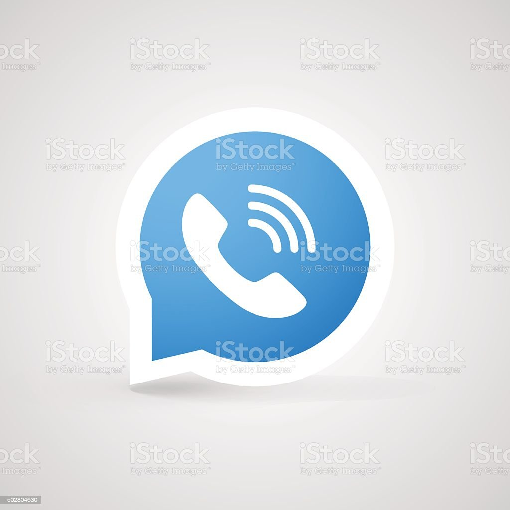 Call icon vector art illustration