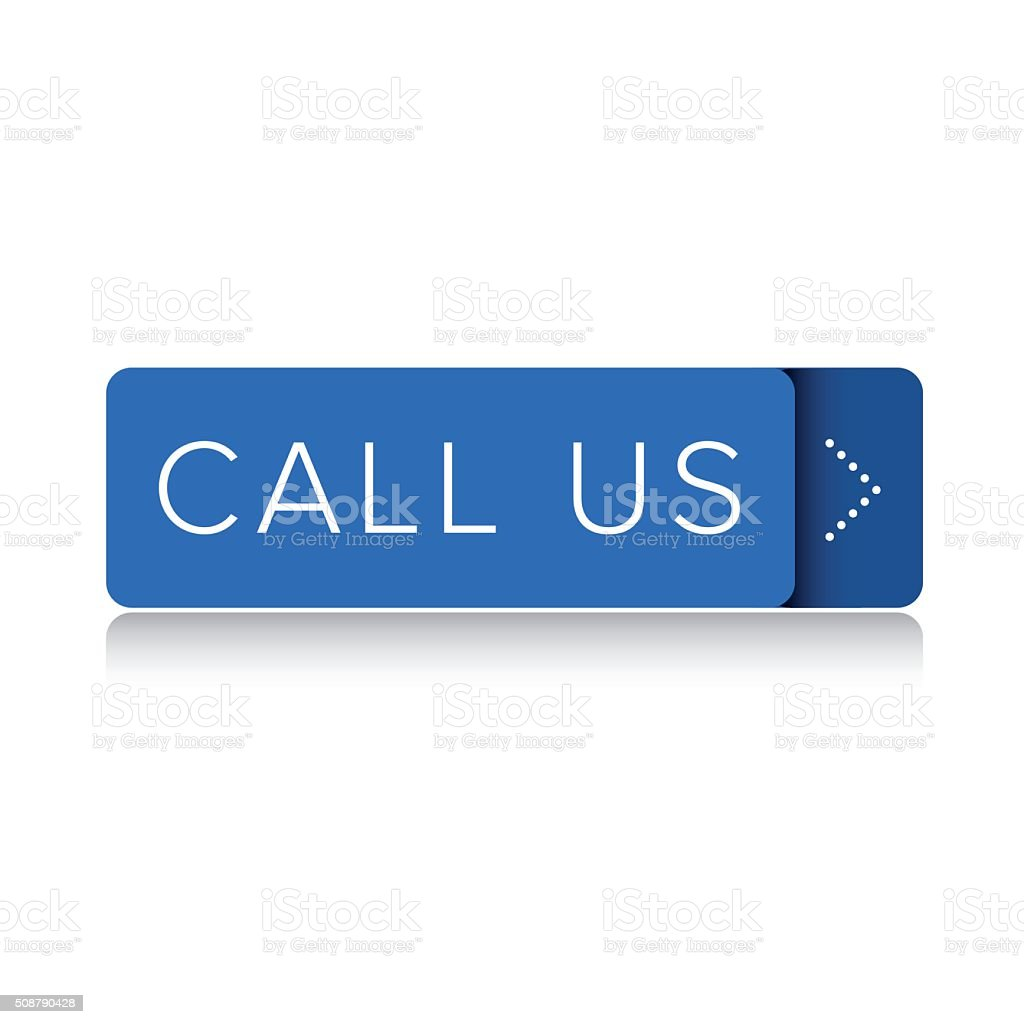 Call us button vector vector art illustration