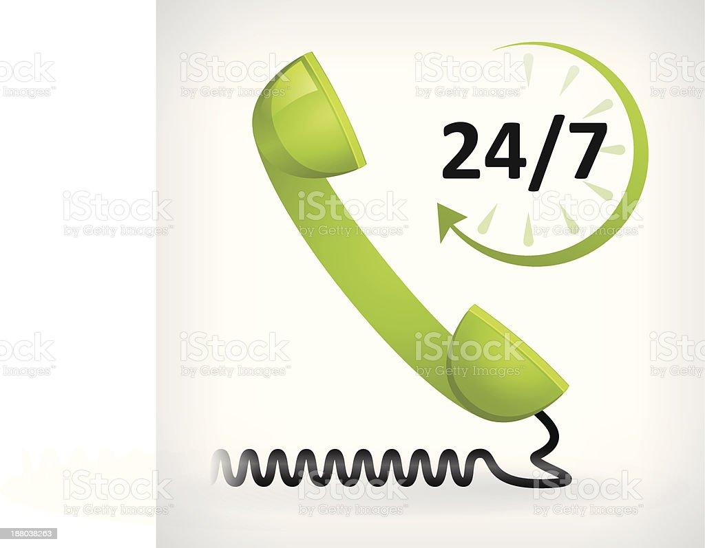 call us twenty four hours icon royalty-free stock vector art