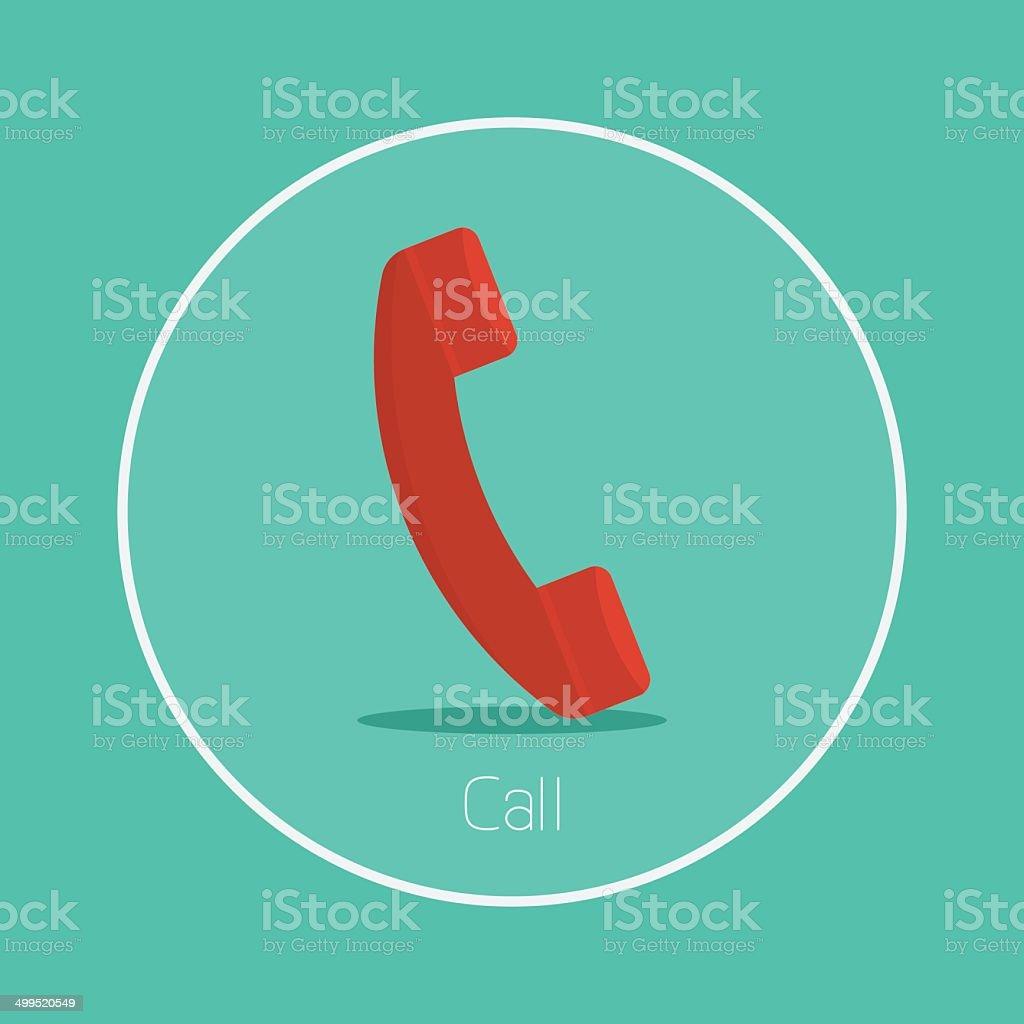 Call vector art illustration