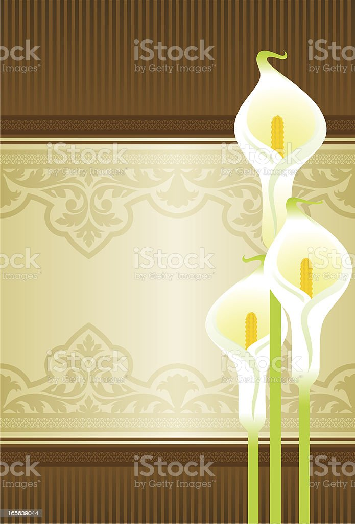 Calla lilies background royalty-free stock vector art