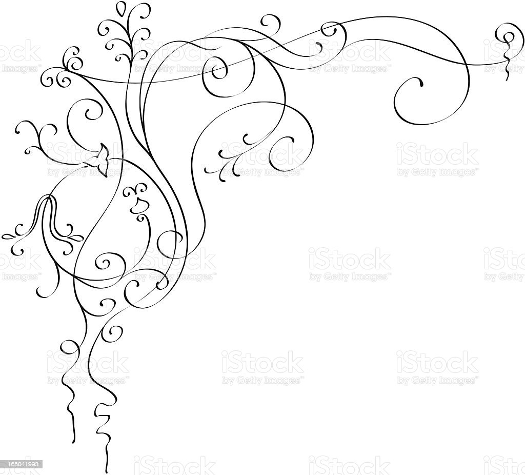 Calligraphic background royalty-free stock vector art