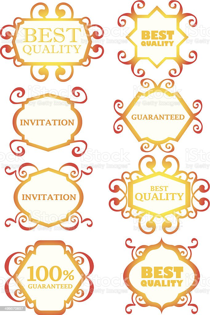 Calligraphic design border, decoration and element royalty-free stock vector art