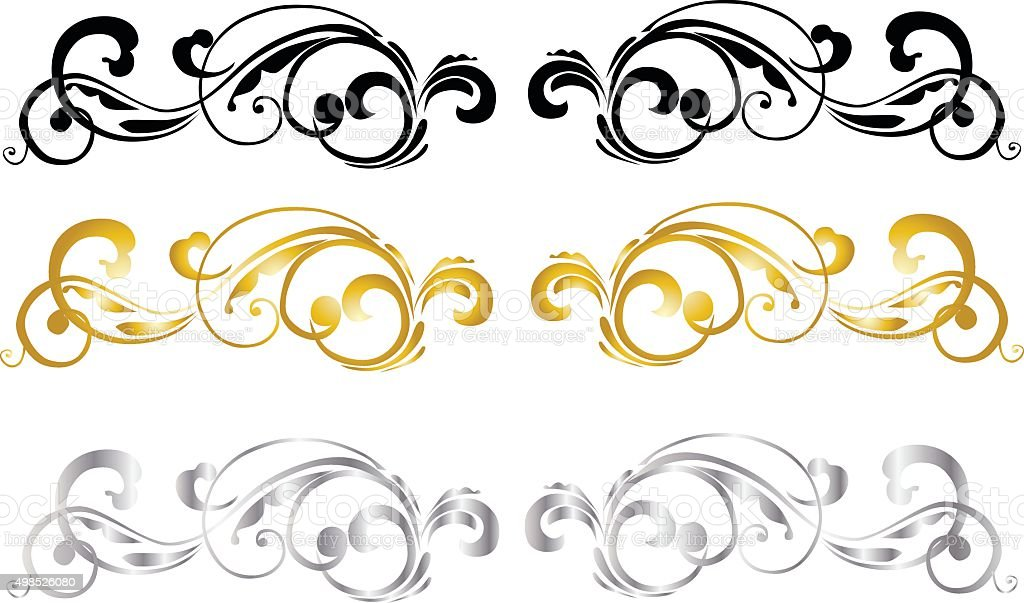 Calligraphic Design vector art illustration
