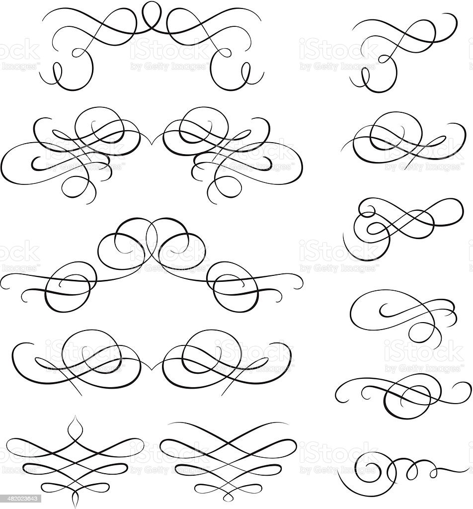 Calligraphic elements royalty-free stock vector art