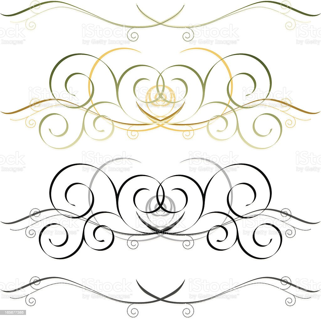 Girlanden Kalligrafische Design-Elemente-Set Lizenzfreies vektor illustration