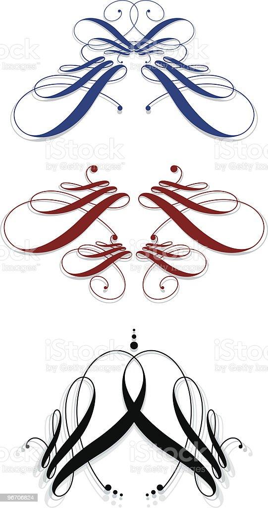 calligraphic svignettes royalty-free stock vector art