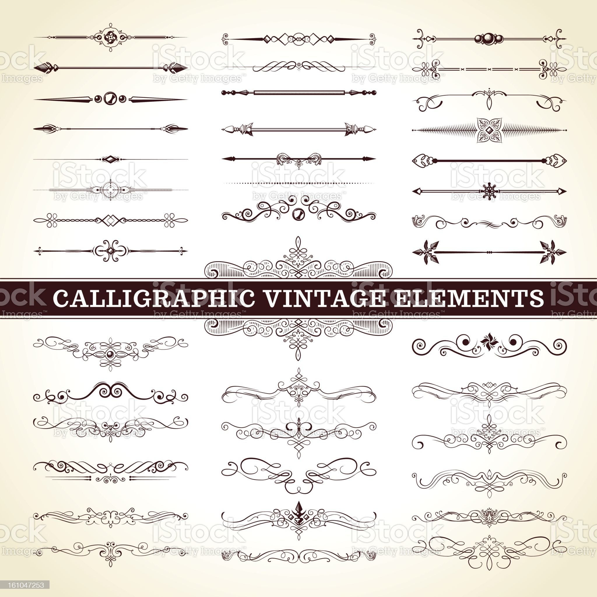 Calligraphic Vintage Elements royalty-free stock photo