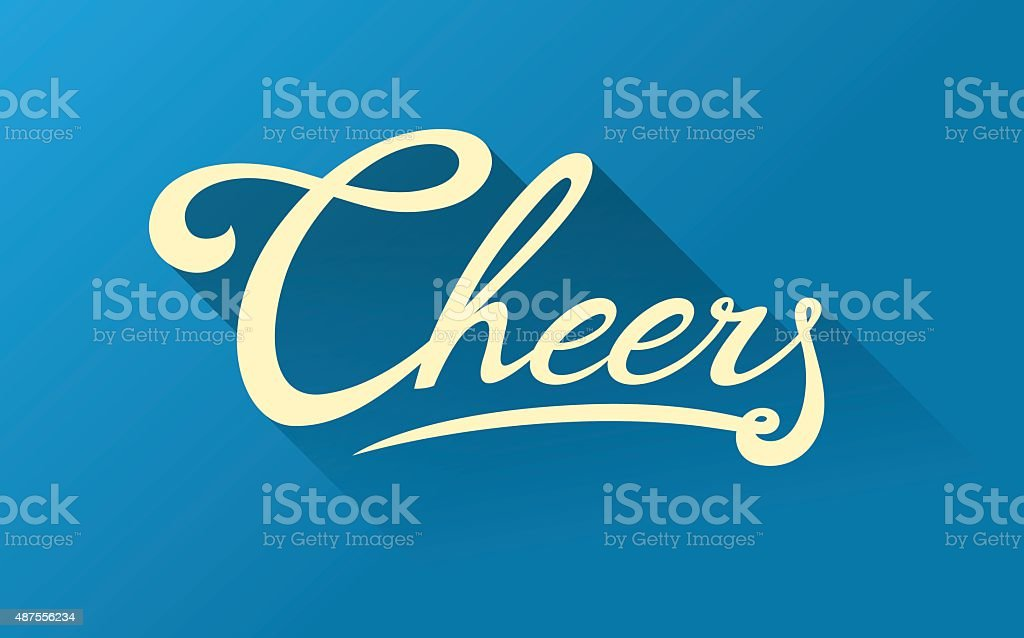 Calligraphy note card - Cheers vector art illustration