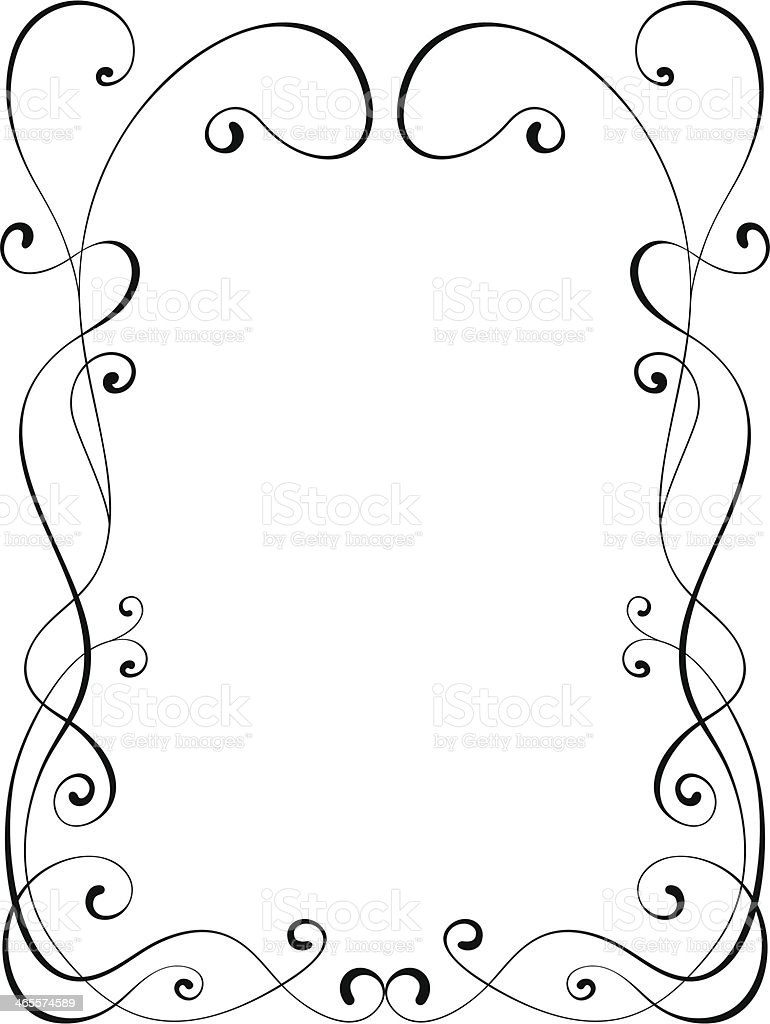 calligraphy ornamental decorative frame royalty-free stock vector art