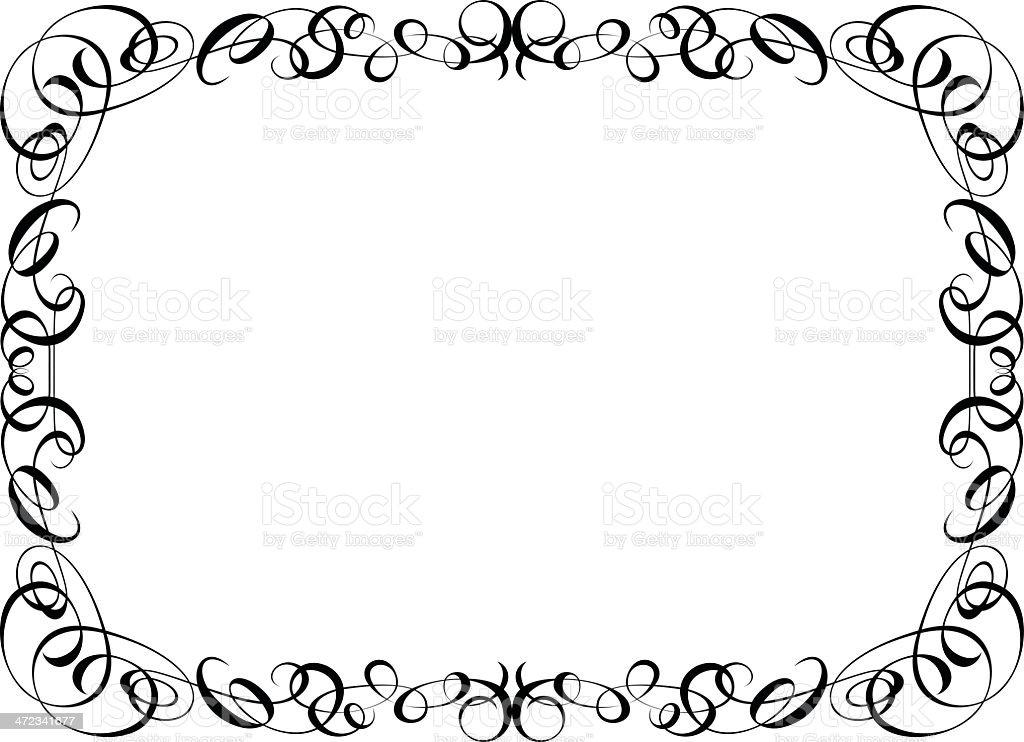 calligraphy ornamental decorative frame royalty-free stock vector art