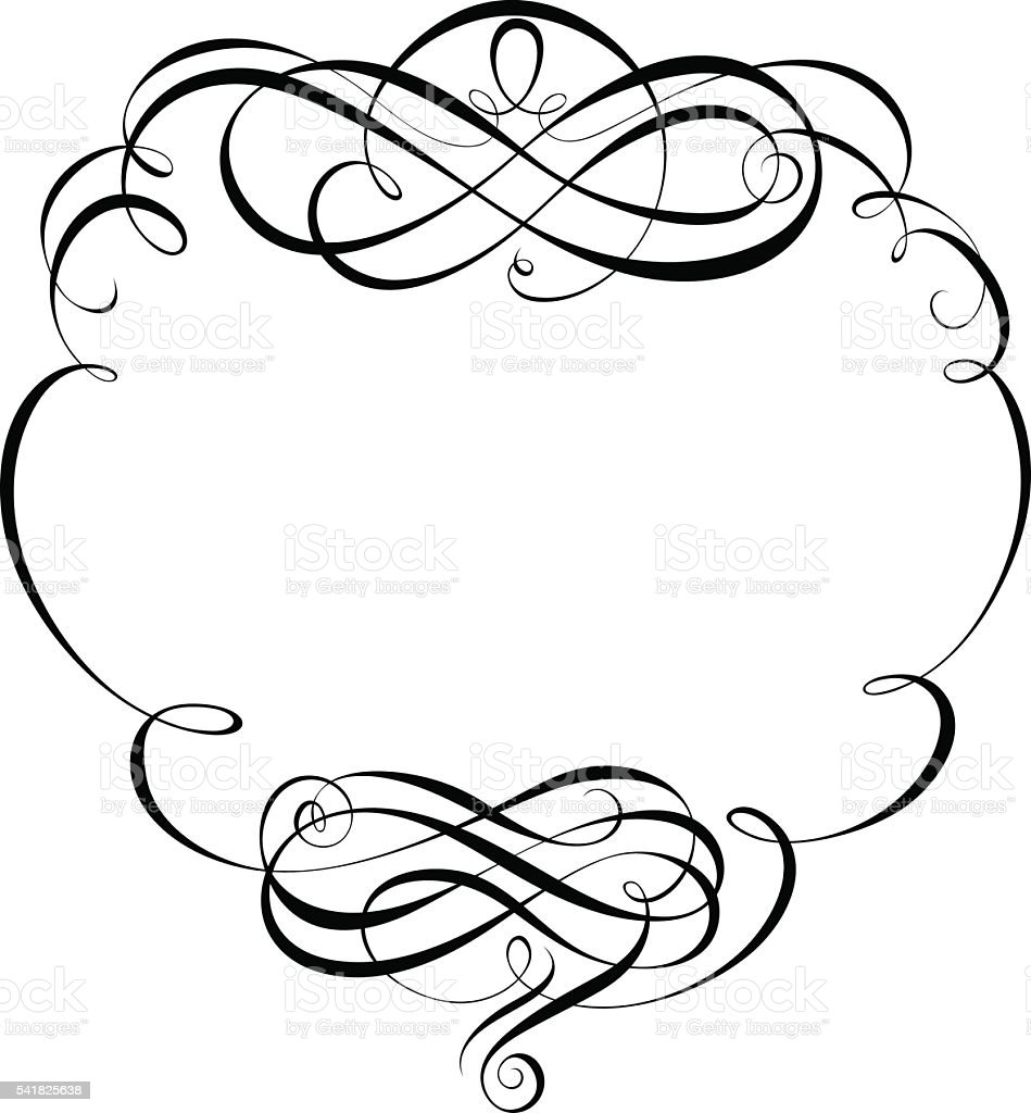 calligraphy ornamental decorative frame vector art illustration