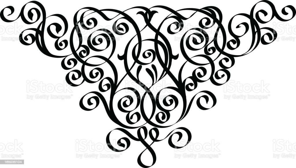 Calligraphy pattern royalty-free stock vector art