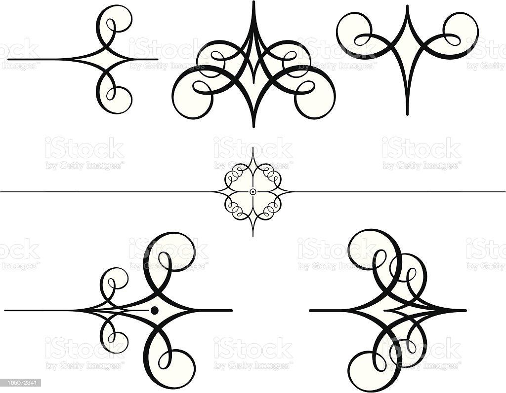 Calligraphy Scrolls vector art illustration