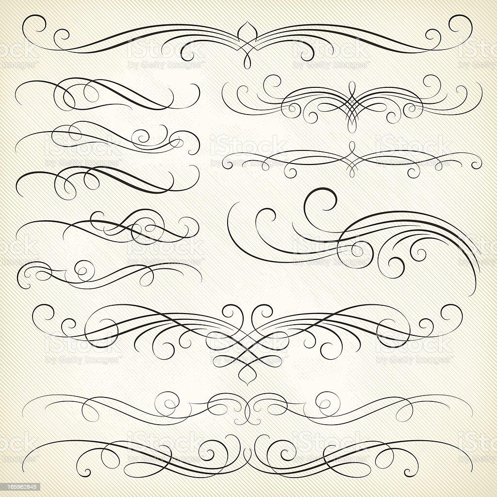 Calligraphy Swirls royalty-free stock vector art