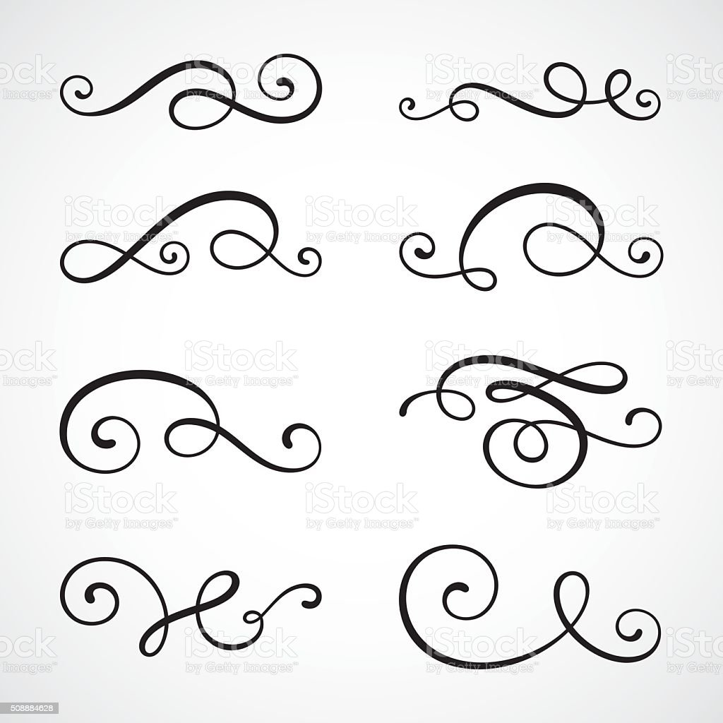 Calligraphy swirls stock vector art istock