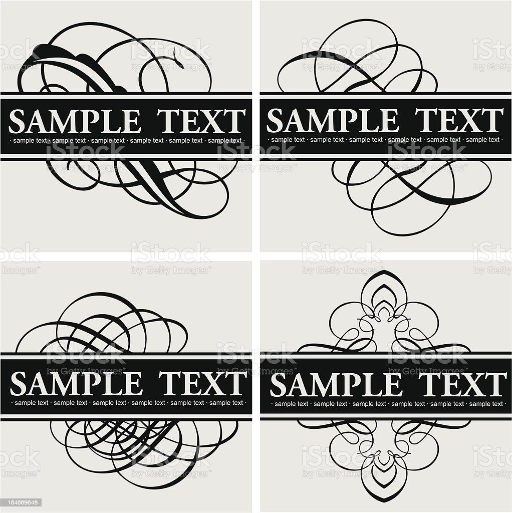 Calligraphy Title Quad vector art illustration