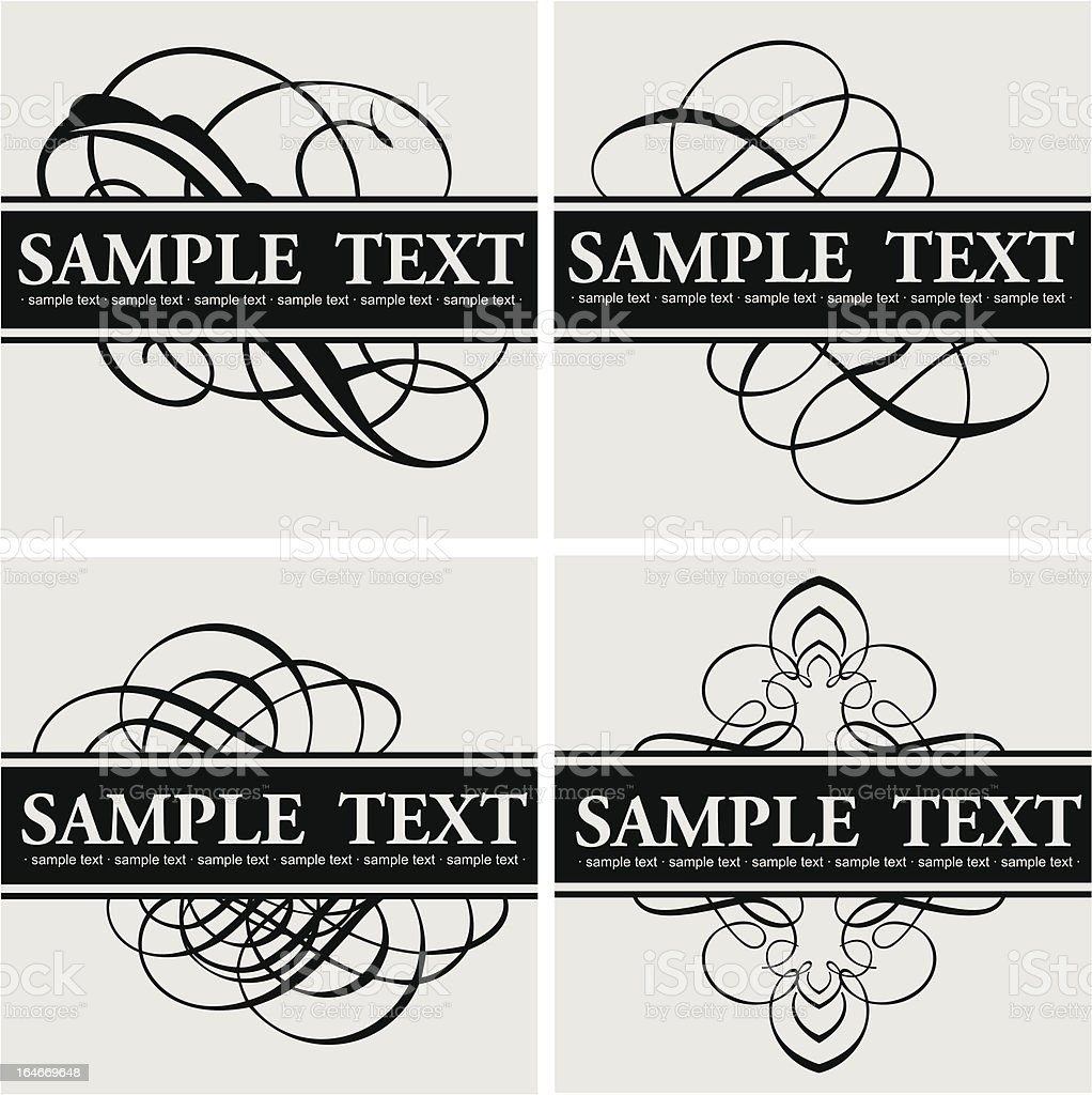 Calligraphy Title Quad vector art illustration