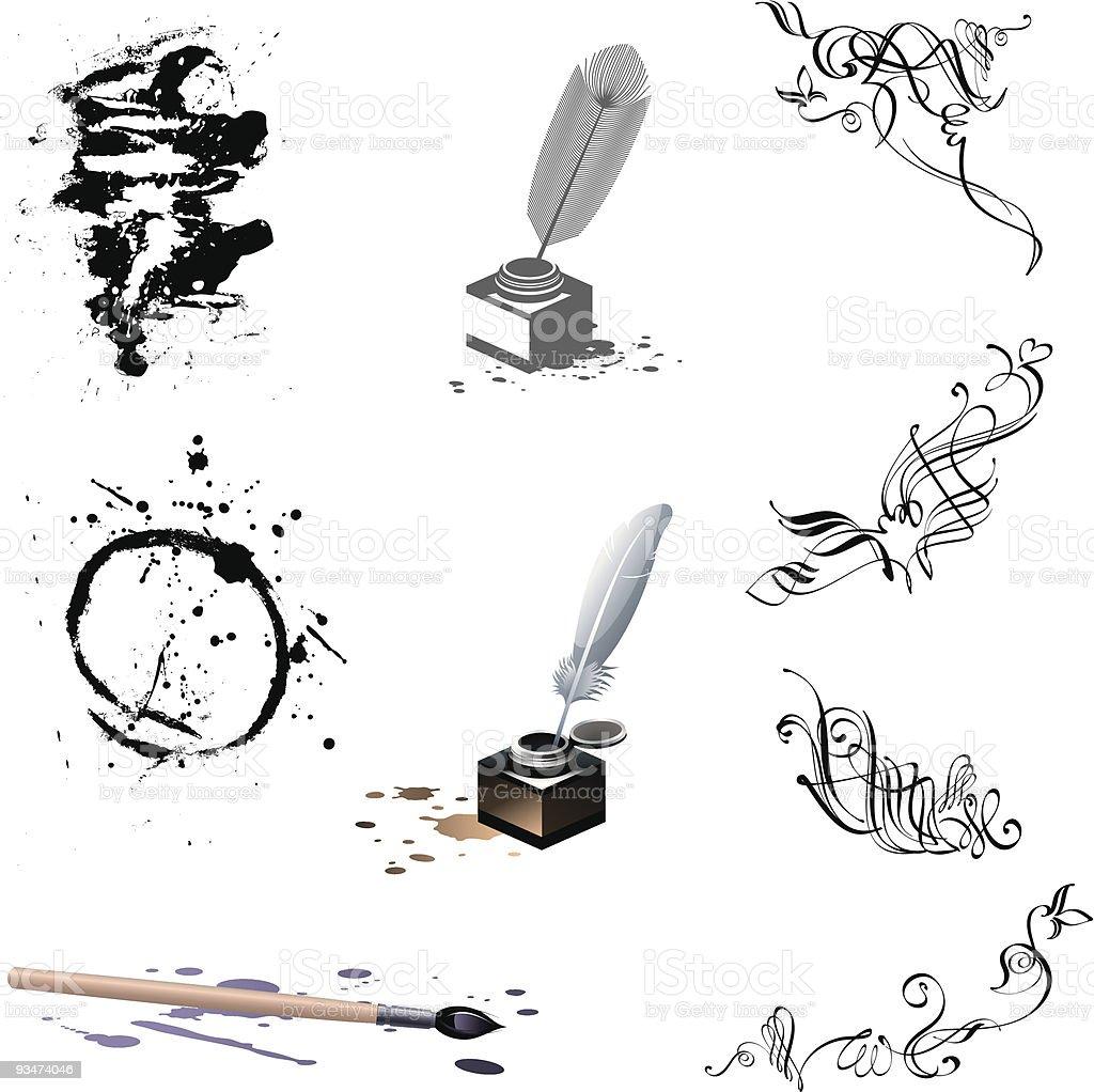 Calligraphy royalty-free stock vector art