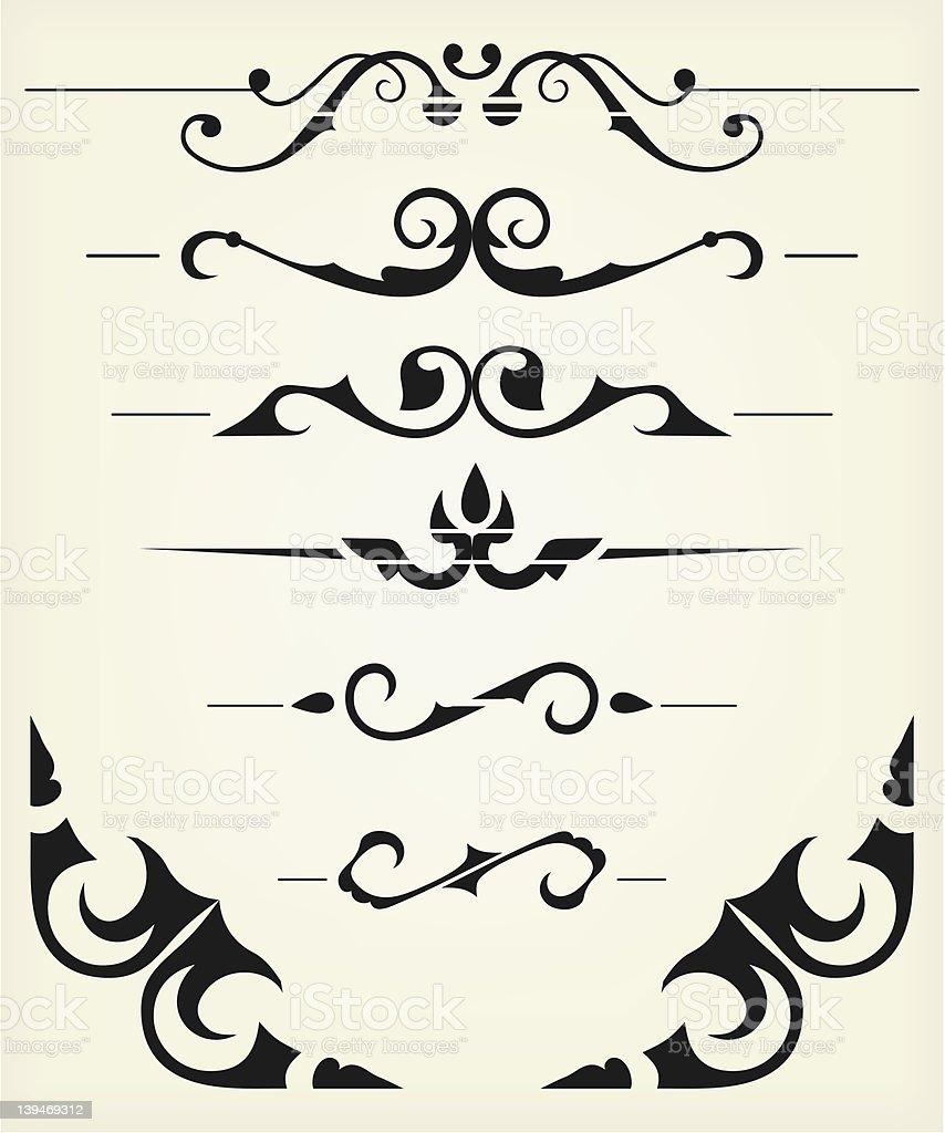 Calligraphy vector royalty-free stock vector art