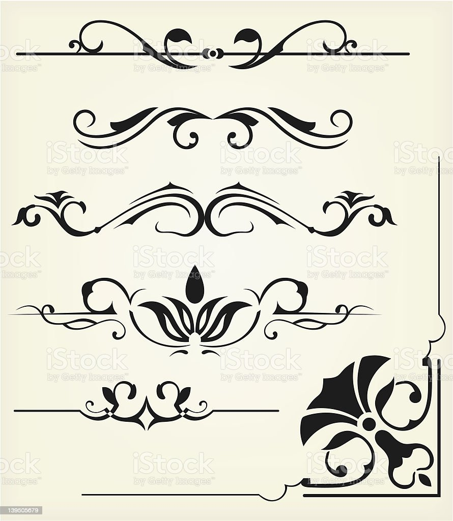Calligraphy vector royalty-free stock vector art