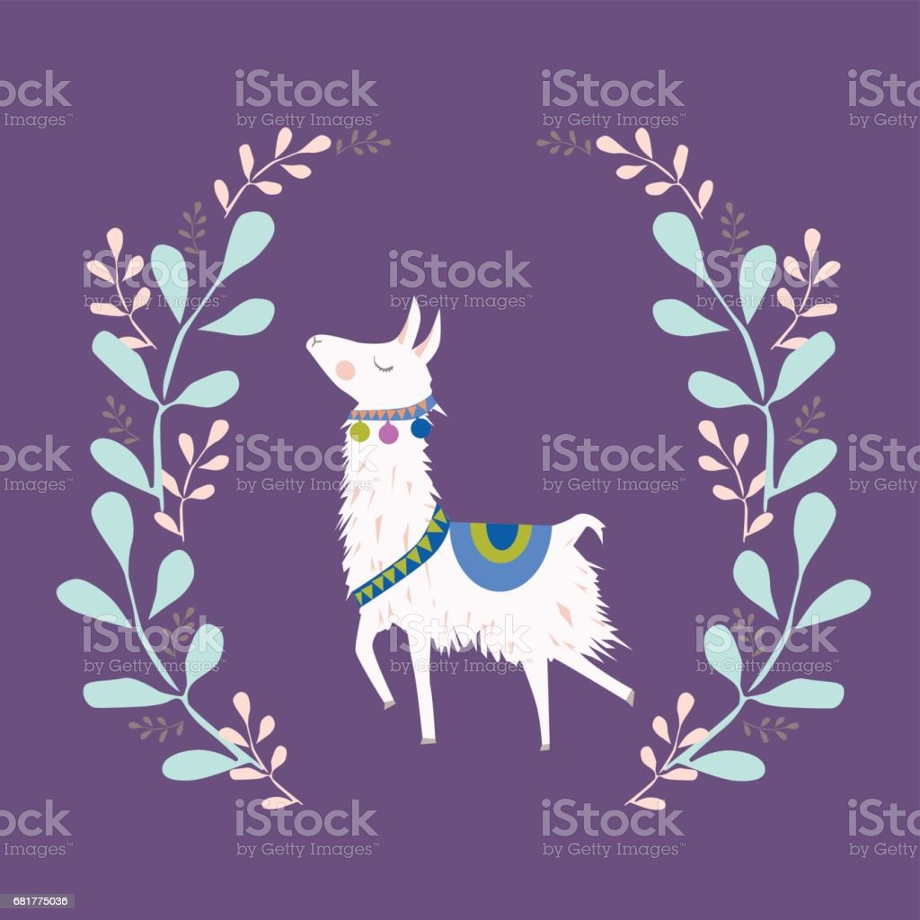 llama illustration vector art illustration