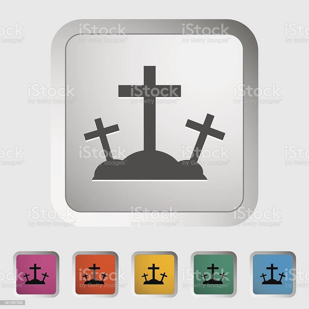 Calvary single icon. vector art illustration