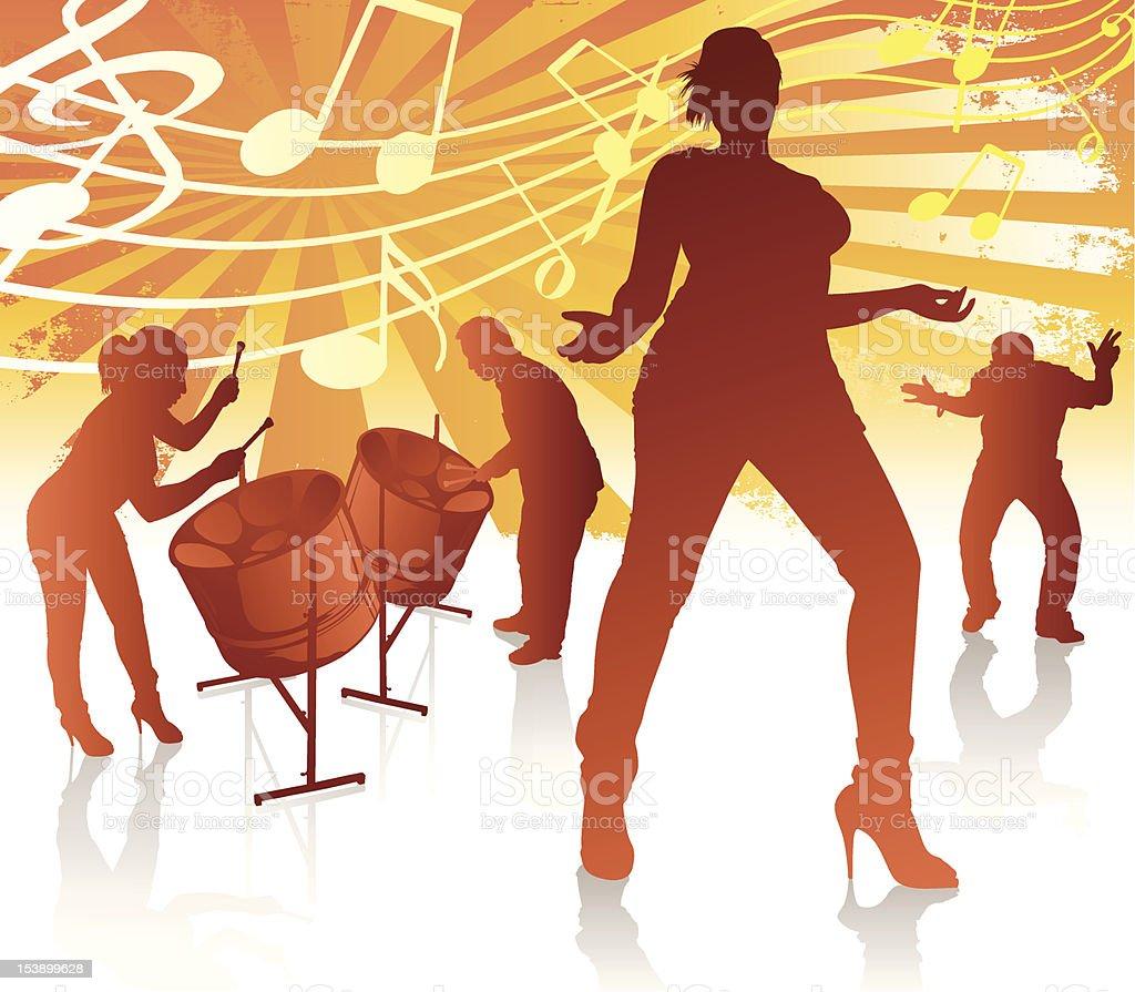 Calypso Heaven vector art illustration