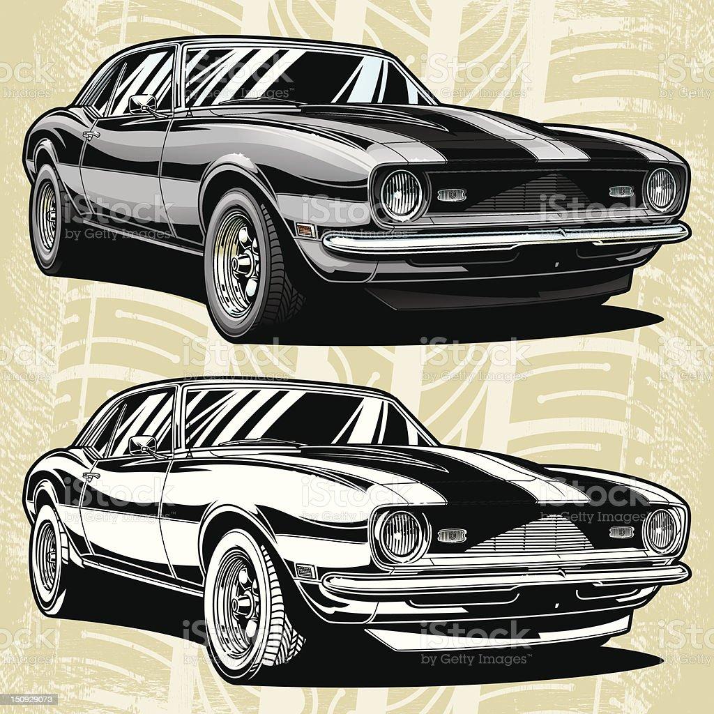 Camaro Classic 68 royalty-free stock vector art
