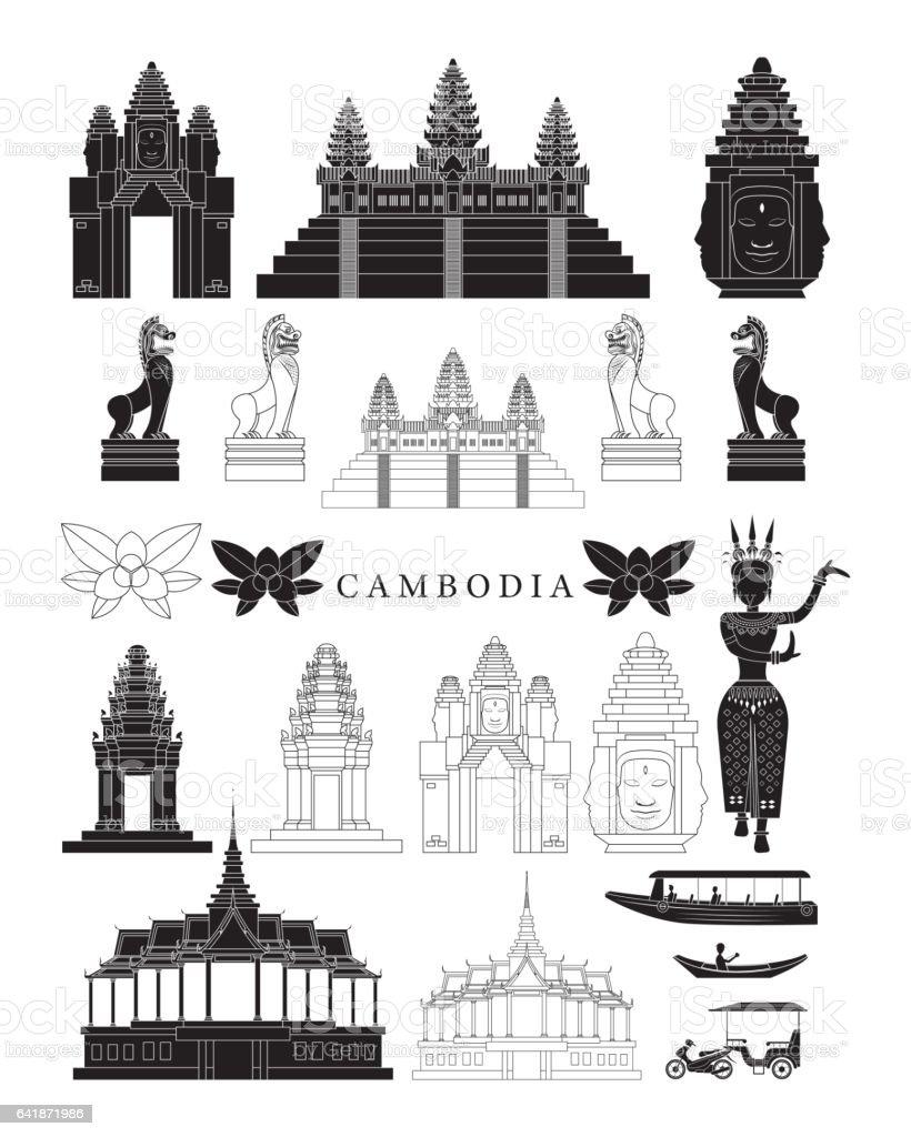 Clip art 187 board games clip art -  Cambodia Landmarks And Culture Object Set Vector Art Illustration