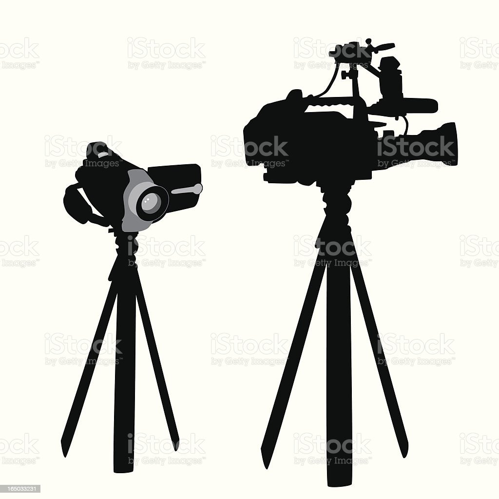 Camcorder Professional Video Vector Silhouette vector art illustration