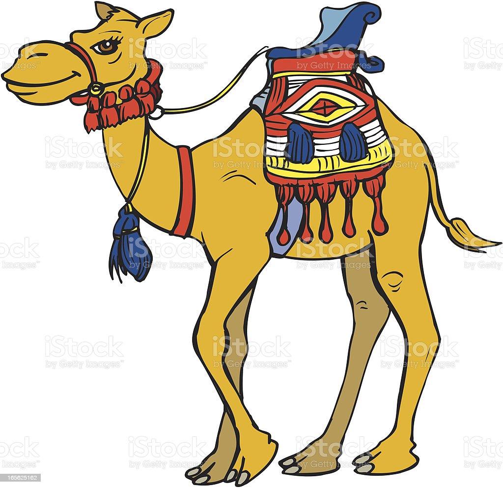 Camel Cartoon vector art illustration