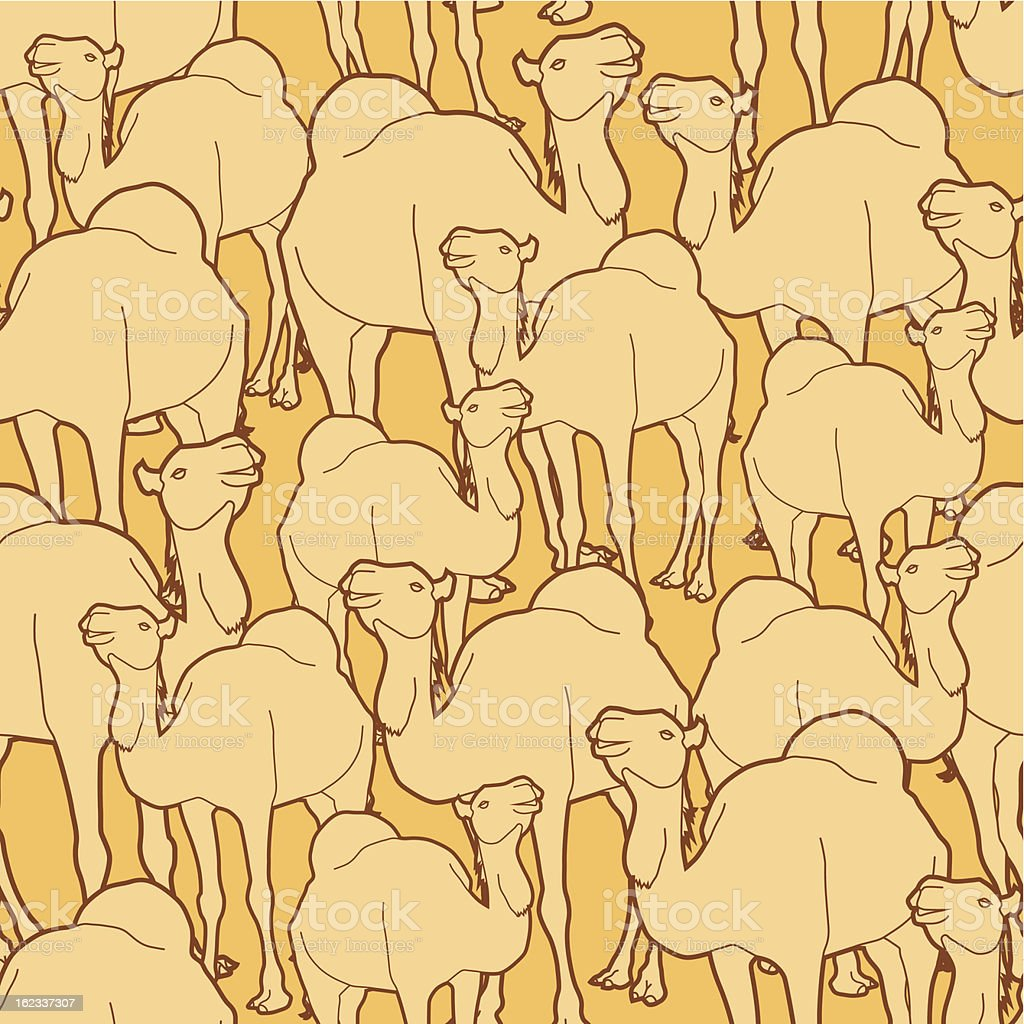 camel herd pattern royalty-free stock vector art