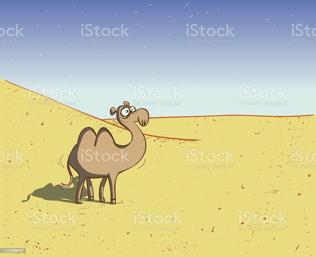 Camel in Desert royalty-free stock vector art