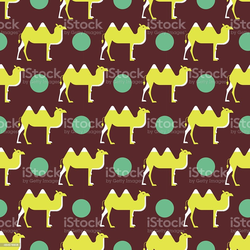 camel pattern vector art illustration