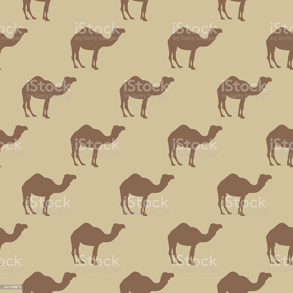 Camel Pattern vector art illustration